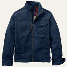 Timberland Men's Mount Davis Timeless Waxed Canvas Dark Navy Jacket A17FI - $109.99