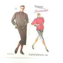 Vogue Pattern 1768 Claude Montana Skirt Top Size 8 Individualist Vintage... - $19.99