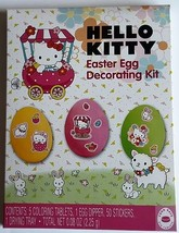 NEW Hello Kitty Easter Egg Decorating Kit And Stickers FREE WORLDWIDE SH... - $7.91
