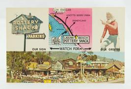 Postcard Pottery Shack Laguna Beach California Gift Shop 101-A Coast Hwy... - $4.94