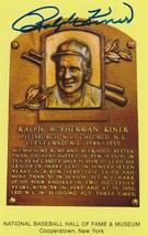 Ralph Kiner Signed Autographed Hall of Fame Plaque Postcard - $24.95