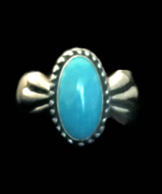 Vintage Turquoise Ring Carolyn Pollack Sterling Silver Southwest Ring Si... - $55.00