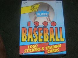 1990 fleer baseball wax box - $12.99