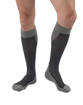 JOBST Sport Knee High 15-20 mmHg Compression Socks, Black/Grey, Large image 3