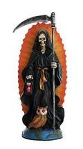 Santa Muerte Saint of Holy Death Standing Religious Statue 7.25 Inch Bla... - $24.74