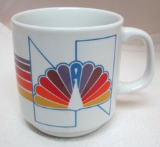 Papel NBC Rainbow Coffee Mug Cup USA 91605 Great Shape 3 1/2 Inches - $39.59