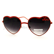 Love Heart Shape Sunglasses Womens Fashion Shades Thin Metal Frame - $7.08+