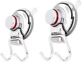 Airisoer Shower Hooks with Suction Cup Holder Removable Bathroom Kitchen... - $29.99