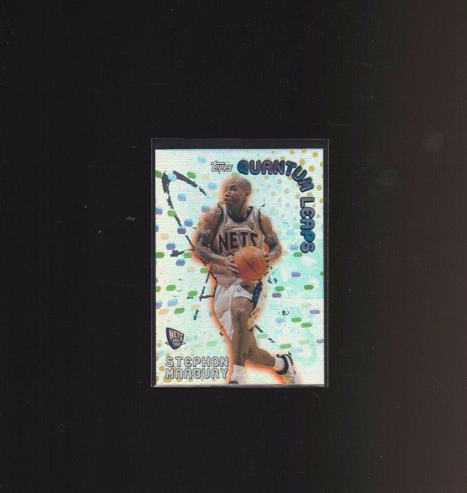 2000-01 Topps Quantum Leaps #QL3 Stephon Marbury New Jersey Nets