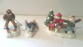 "Dept 56 Snow Village ""Skaters and Skiers"" #54755 - $9.95"