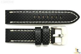 24mm Fibra de Carbono Cuero Negro Correa para Reloj Pulsera Luminox - $51.64