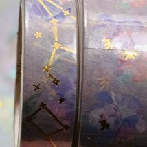 SEALED Papergeek Paper Geek 2x Blue Floral Constellation Washi Tape 33' Each image 3