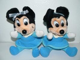 "Walt Disney Vintage Mickey's Christmas Carol Plush 8"" Lot of 2 - $15.84"
