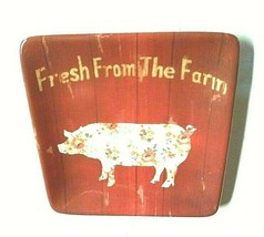 Certified International DANHUI NAI Pig Plate Dish Fresh Farm Farmhouse D... - $14.94