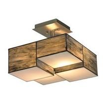Elk Lighting 72071-2 Cubist Collection 2 Light Semi Flush Mount, Brushed... - $417.90