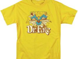 Dr Fate T-shirt retro 80s DC comic book cartoon superhero gold tee DCO682 image 2