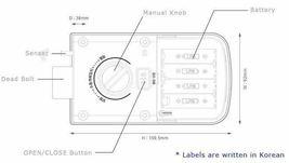 Keyless Lock Buildone BO-C10N Digital Doorlock Security Entry Password Silver image 8