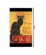 Chat Noir Black Cat Art Business Credit Card Holder - $15.19