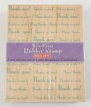 Word Print Hero Arts Wood Block Stamp Thank You - $5.44