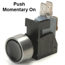 Black 10 Amp Push Momentary On Push Button Switch With Tab Terminals - $22.95