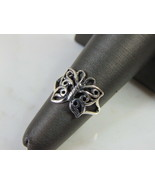 Womens Vintage Estate Sterling Silver Butterfly Ring 1.9g E5142 - $24.75