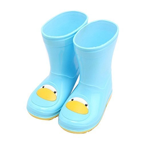 Cute Starry Kids' Rain Boots Blue Penguin Children Rainy Days Shoes 18CM