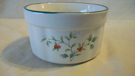 Pfaltzgraff Butter Or Cheese Serving Bowl. Holly Berry Pattern - $17.08