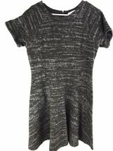 Ann Taylor Loft Petites Size 12 P Black Gray Jersey Shirt Dress Short Sl... - $26.59