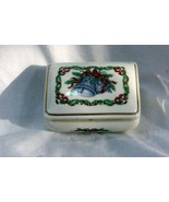 Heritage House 1985 Christmas Melodies Silver Bells Musical Trinket Box - $10.70