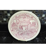 "Collectible State Plate Pennsylvania Dutch Amish Vintage 10"" Pink Luster... - $12.99"
