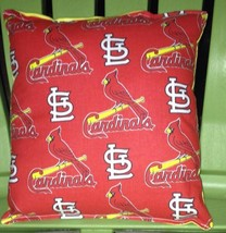 Cardinals Pillow (Red) St Louis Cardinals Pillow MLB Handmade in USA - $9.97