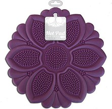 Talisman Designs No-Slip Grip Hot Pad, Purple, Pot Holder, Spoon Rest, J... - $11.36