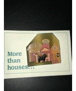 Estate House Pins by Lucinda Pink Barn & Silo w Black & White Cow Next to Fence  - $28.84