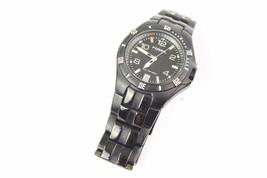 Mens Fossil Watch Black Dress Used Tactical - $19.79