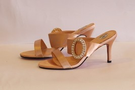 Satin Beige Slippers image 1
