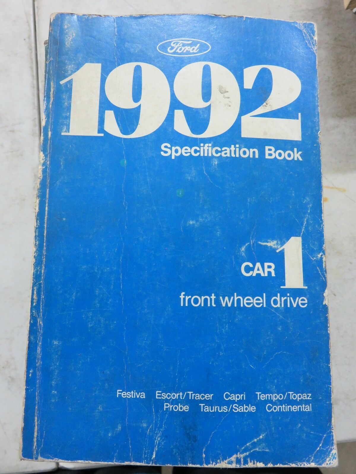 Primary image for 1992 Ford Specification Book Service Manual OEM Car Front Wheel Drive