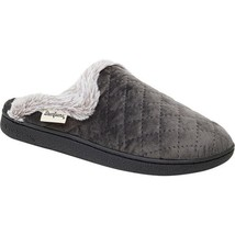 Dearfoams Women's Quilted Velour Scuff Slippers Excalibur L 9-10 - $42.99