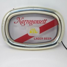 Vintage 70's Narragansett Lager Beer Acrylic Sign with Gold Border  - $49.00