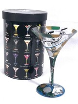 "LOLITA Love My Martini ""MILLIONAIRE"" Martini Glass RETIRED MIB  Hand Pai... - $24.49"