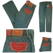 Levi Mens 502 Regular Taper Fit Warp Stretch Jean Size W29 x L30 RRP $59... - $24.99