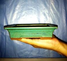 Bonsai small pot - Green color glaze coating - special - Made in South Korea     - $34.65