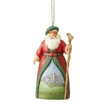 Jim Shore Irish Santa Hanging Ornament Around the World Christmas 6004309