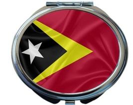 Rikki Knight Timor-Leste Flag Compact Mirror Black White Red Design NEW - $12.00
