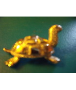 Turtle Pin Gold Tone almost 3D - $20.00
