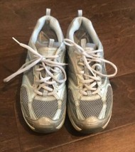 Skechers Womens Shape Ups Sneakers Athletic Preowned Sz 9 Sliver Gray - $19.33
