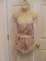 new/pkg never worn  Feminine lace  trimmed floral pajama  set small - $14.84