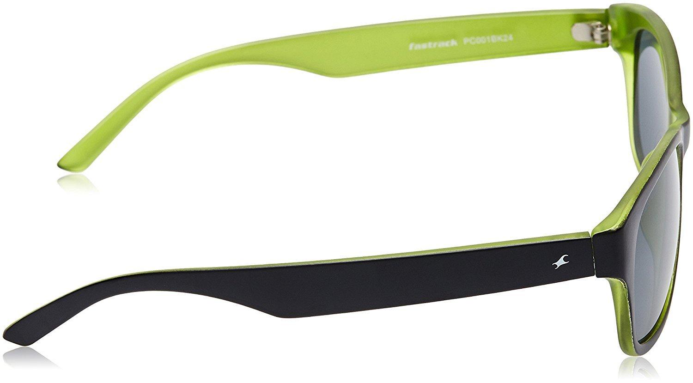 Fastrack  UV Protected Wayfarer Unisex Sunglasses -PC001BK24|54|Light Green lens