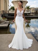 New Sexy Sleeveless Illusion Open Back Princess Mermaid Trumpet Wedding Dress image 7