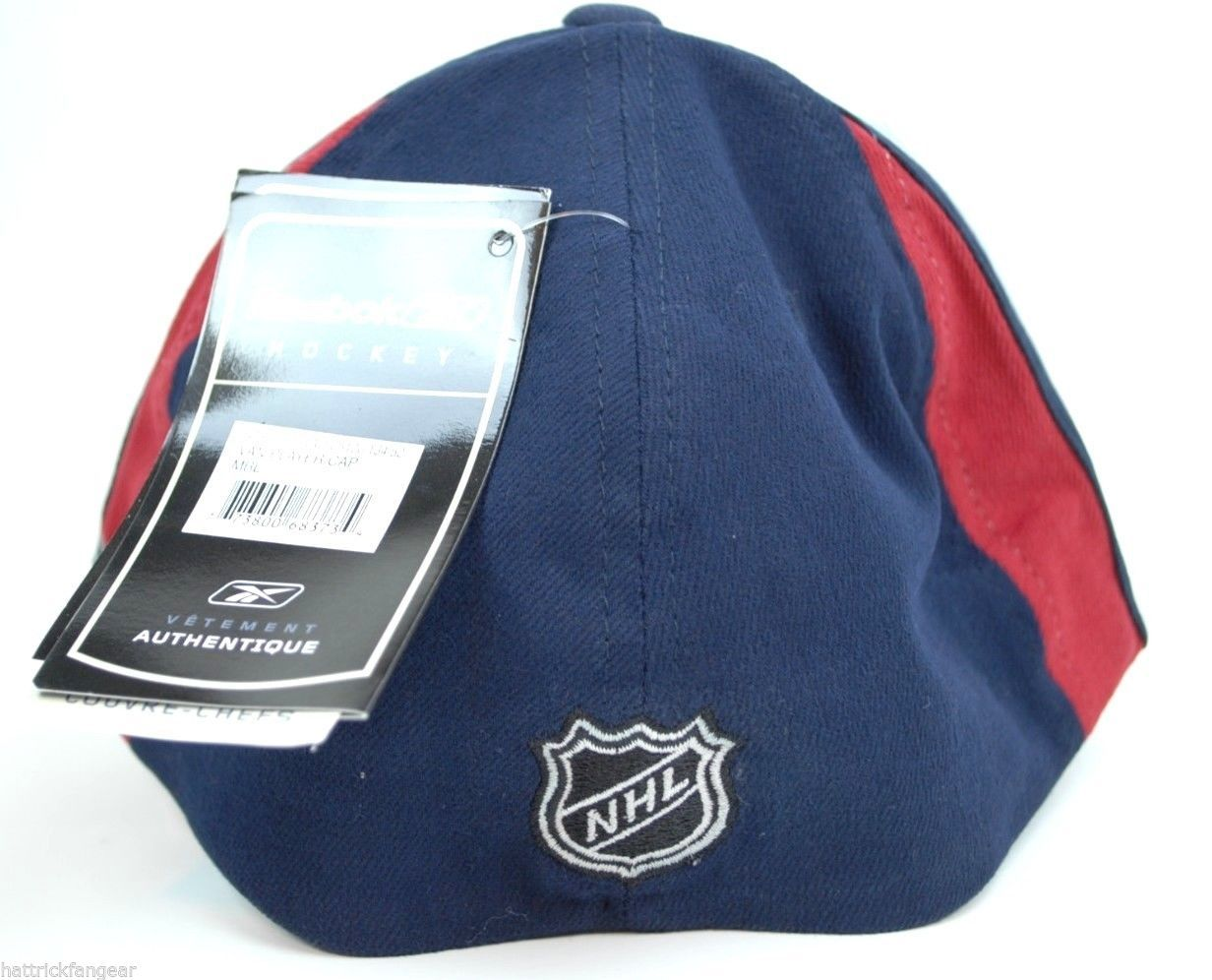 VANCOUVER CANUCKS REEBOK CENTER ICE STRETCH FIT NHL HOCKEY CAP HAT 0b07b1da0ab7
