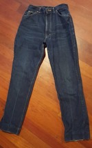 Vintage Womens LEE Rider Jeans Size 14 Union Made High Waist Dark Indigo... - $23.83